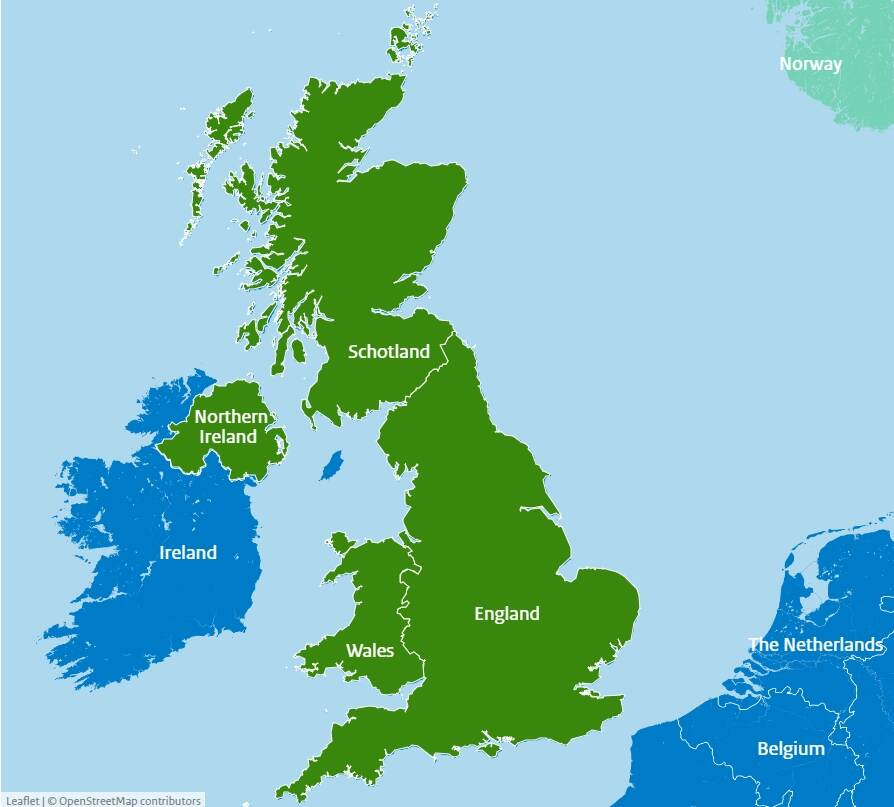 Which Countries Make Up The United Kingdom Government Nl