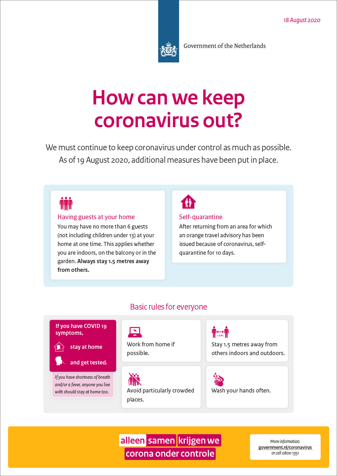 Let's keep coronavirus out   News item   Government.nl