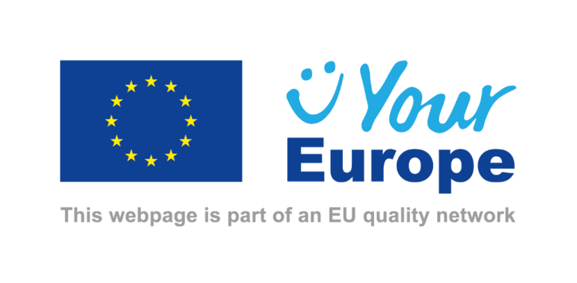 Logo of the Your Europe, the digital gateway of the European Union.